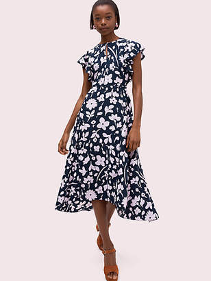 Kate Spade Splash Flutter Sleeve Dress, Parisian Navy - Size 0