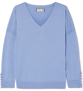 Paul & Joe Silk And Cotton-blend Sweater - Blue