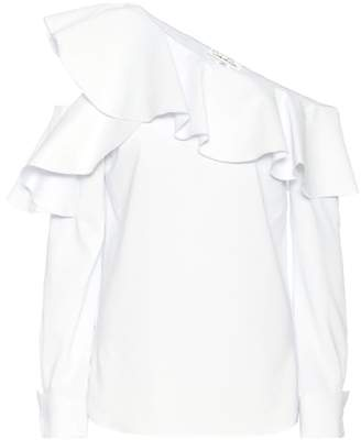 Oscar de la Renta Ruffled silk top