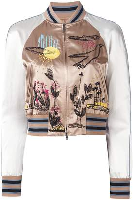 Valentino embroidered bomber jacket