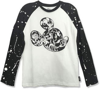 DISNEY MICKEY MOUSE Disney Hanging Mickey 90th Collection Long Sleeve Crew Neck Mickey Mouse T-Shirt Boys