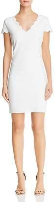 Aqua Scalloped Sheath Dress - 100% Exclusive