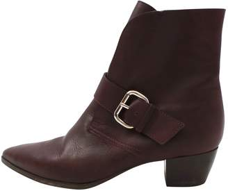 Escada Sport Burgundy Leather Ankle boots