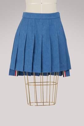 Thom Browne Denim mini-skirt