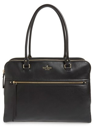 Kate Spade New York 'Cobble Hill - Kiernan' Leather Tote - Black $398 thestylecure.com