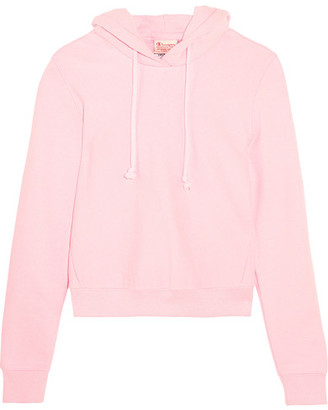 Vetements - + Champion Appliquéd Cotton-blend Jersey Hooded Top - Baby pink $570 thestylecure.com