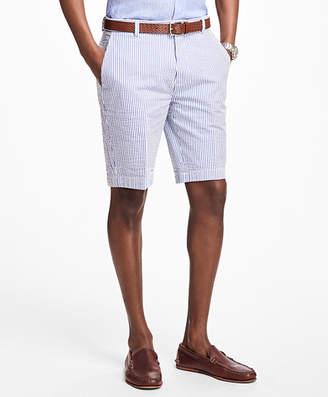 Brooks Brothers Classic Stripe Seersucker Bermuda Shorts