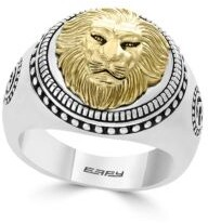 Effy Gento Lion Sterling Silver Band Ring