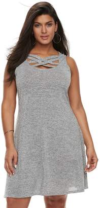 JLO by Jennifer Lopez Plus Size Strappy Fit & Flare Dress