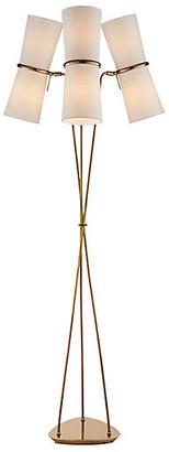 AERIN Clarkson Triple Floor Lamp - Antiqued Brass