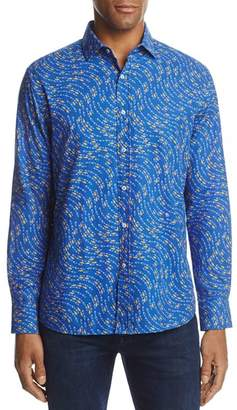 Vilebrequin Fish Print Long Sleeve Button-Down Shirt