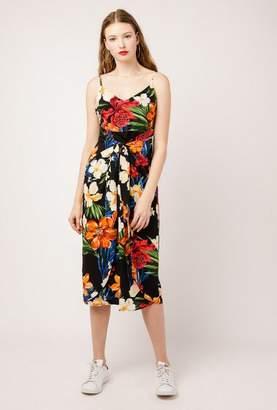 Azalea Tie Front Midi Floral Dress