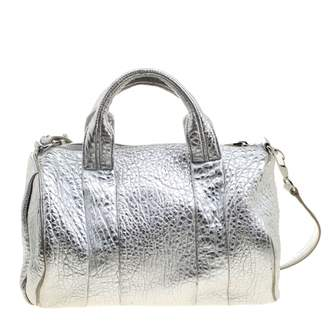 Alexander Wang Rocco Silver Leather Travel bags