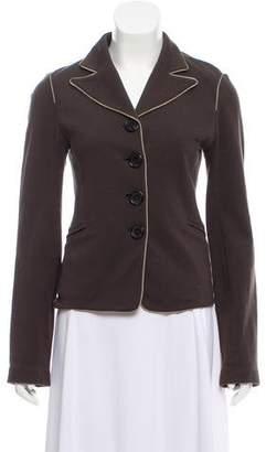 Bottega Veneta Long Sleeve Button-Up Blazer