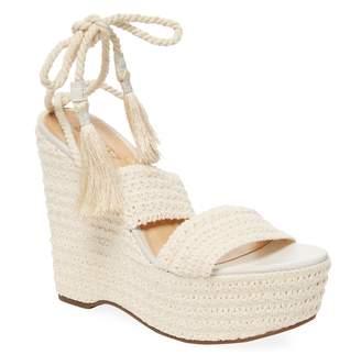 Schutz Women's Bendy Crochet Wedge Sandals