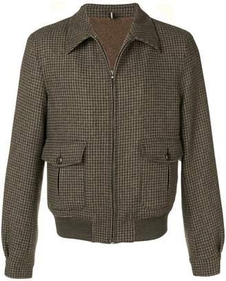 Lardini tweed zipped bomber jacket