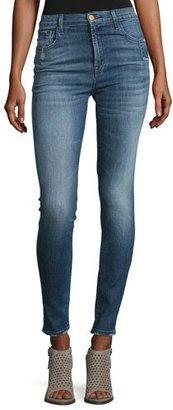 J Brand Carolina Super High-Rise Skinny Jeans, Indigo $228 thestylecure.com