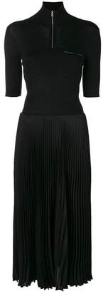 Prada bi-material short sleeve dress
