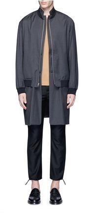 3.1 Phillip Lim3.1 Phillip Lim 'Trompe l'oeil' long blazer bomber coat