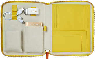 Stow First Class Provence Yellow Leather Tech Case