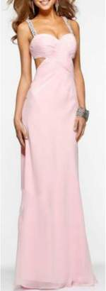 Faviana Strappy Embellished Gown