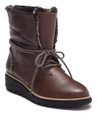 Clarks Sharon Pearl Faux Fur Lined Wedge Boot