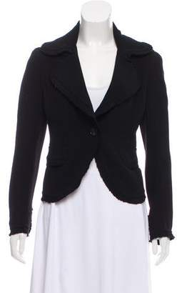 Donna Karan Tailored Ruffle-Trimmed Blazer