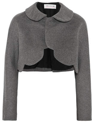 Comme des Garçons GIRL - Cropped Scalloped Wool-felt Jacket - Gray $870 thestylecure.com