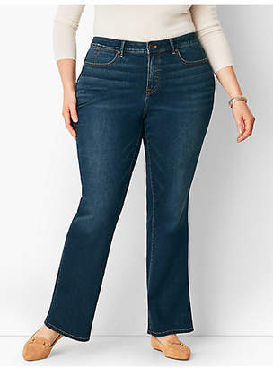 Talbots Plus Size High-Rise Barely Boot Jean - Pioneer Wash/Curvy Fit