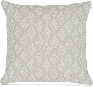 "Sanderson Delphiniums Burnwood Embroidery 200-Thread Count 18"" x 18"" Decorative Pillow Bedding"