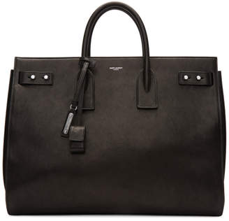 Saint Laurent Black Large Sac de Jour Souple Tote