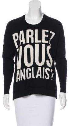 Torn By Ronny Kobo Parlez Vous Anglais Sweater