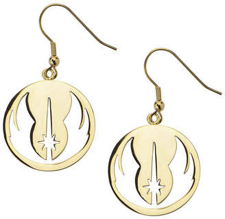 Star Wars FINE JEWELRY Gold Ion-Plated Stainless Steel Jedi Order Drop Earrings