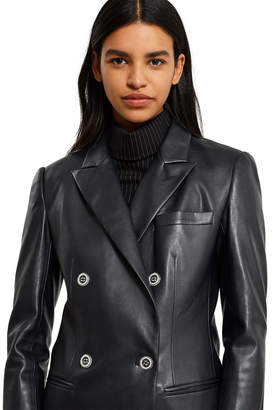 Opening Ceremony Faux Leather Tailored Jacket