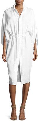 Ralph Lauren Collection Trina Envelope-Sleeve Drawstring Shirtdress $2,290 thestylecure.com