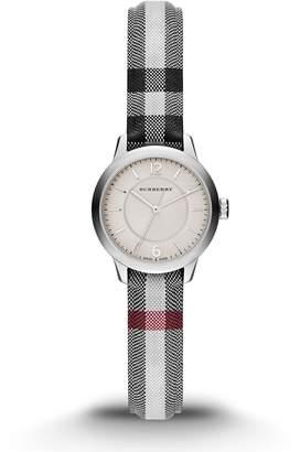 Burberry Women's Swiss Stone Check Fabric Strap Watch 26mm BU10200