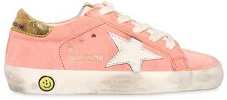 Golden Goose Super Star Metallic Heel Suede Sneakers