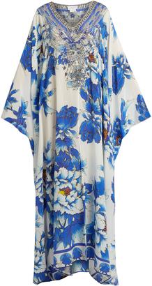 CAMILLA Ring of Roses-print silk kaftan $700 thestylecure.com