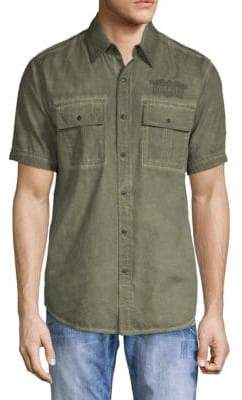 Affliction Logo Cotton Shirt