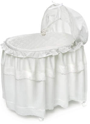 Badger Basket Portable Bassinet N Cradle With Toybox Base And Long Skirt