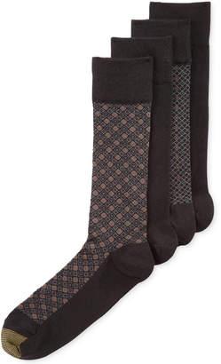 Gold Toe Men's Classic Mosaic Socks 4-Pack