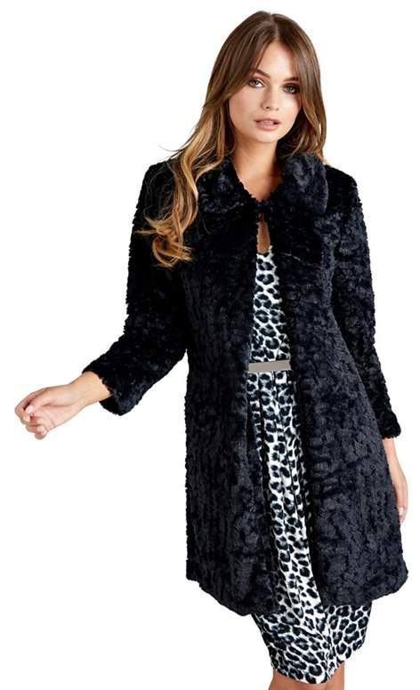 London - Black Faux Fur Coat