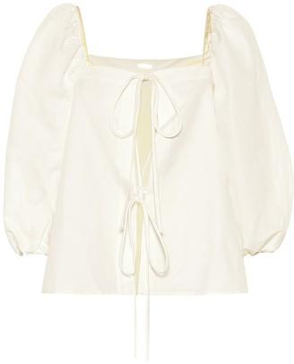 Cult Gaia Aurel linen and cotton top