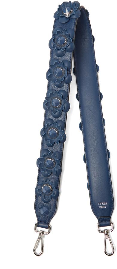 FendiFENDI Strap You floral-appliqué leather bag strap