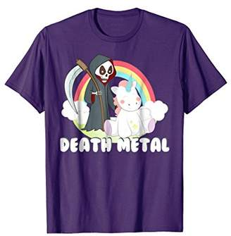 Death Metal Unicorn Rainbow T-Shirt