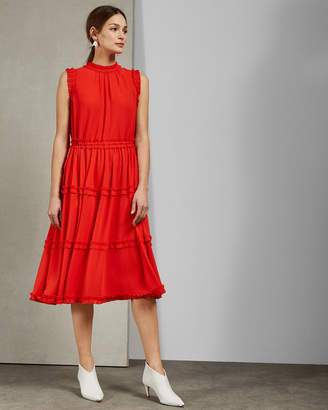 Ted Baker SINITA Tie waist midi dress
