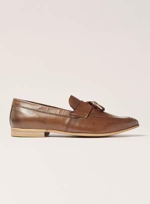 Topman Tan Leather Rigel Tassel Loafers