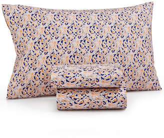 Jessica Sanders CLOSEOUT! Printed Microfiber Twin XL 3-Pc Sheet Set, Created for Macy's