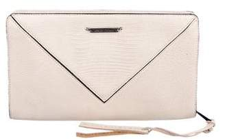 Linea Pelle Pebbled Leather Clutch