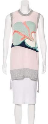 DELPOZO Sleeveless Knit Tunic